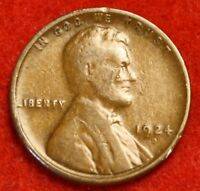 1924-D 1C LINCOLN WHEAT CENT PENNY G COLLECTOR COIN CHECK OUT STORE LW1817