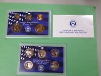 2000 S PROOF SET WITH COA AND BOX