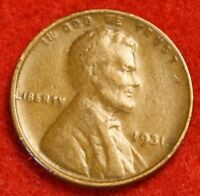 1931-P 1C LINCOLN WHEAT CENT PENNY EXTRA FINE  COLLECTOR COIN CHECK OUT STORE LW1824