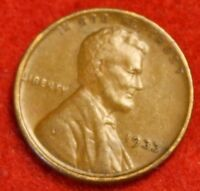 1933-P 1C LINCOLN WHEAT CENT PENNY EXTRA FINE  COLLECTOR COIN CHECK OUT STORE LW1856