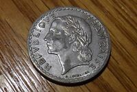 1946 B FRANCE: 5 FRENCH FRANCS COIN KM 888B LAUREATE HEAD AS PICTURED