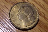 FRANCE 1951 CIRCULATED EF CONDITION 50 FRANCS COIN AS PICTURED