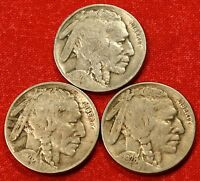 1928 PD&S BUFFALO NICKELS FULL DATE COINS GIFT CHECK OUT STORE BN484