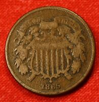 1865 TWO CENT PIECE COLLECTOR COIN GIFT CHECK OUT STORE TP12