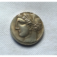K&N ANCIENT GREEK 10 DRACHMA COIN ANTIQUE COLLECTIBLE ARTIFICIAL  COINS GIFT