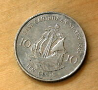 1981 EAST CARIBBEAN STATES 10 CENTS GOLDEN HIND