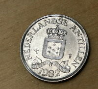 1982 NETHERLANDS ANTILLES 25 CENTS