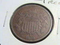 1868 TWO CENT PIECE, FULL WEAK MOTTO      ZWA 98