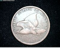 1858 FLYING EAGLE SMALL CENT PENNY  SMALL LETTERS 6806