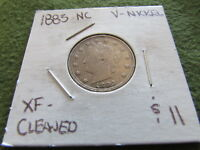 1883 NC LIBERTY V NICKEL NO CENTS PHILADELPHIA MINT NOT VICTORY 5 CENT COIN