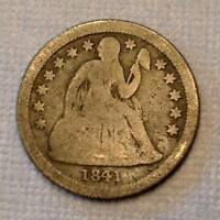 1841 O SEATED LIBERTY DIME TEN 10 CENTS