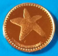 SAN ANDRES 1 CENTAVO 2015 UNC SEA STAR ST. CATALINA COLOMBIA UNUSUAL COIN