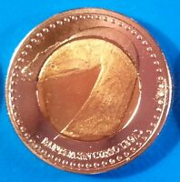 SAN ANDRES 5 PESOS 2015 UNC SNAKE ST CATALINA COLOMBIA BIMETALLIC UNUSUAL COIN