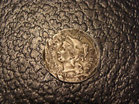 1865 3 CENT NICKEL VG FINE DETAIL DAMAGED WE COMBINE SHIPPING