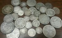 1860 1899 SILVER MIXED FOREIGN COINS COLLECTION LOT