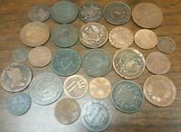 1800 1849 MIXED FOREIGN COINS COLLECTION LOT