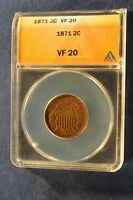 1871 TWO CENT ANACS VF20