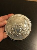 2011 ATB GLACIER NATIONAL PARK SILVER ROUND COIN 5 OZ .999   SCUFFY