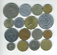 LOT OF 16 WORLD COINS   16 DIFFERENT COUNTRIES   GREAT STARTER   LOT 199