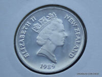 1989 NEW ZEALAND 20 CENT  PROOF