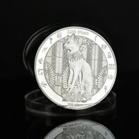 EGYPTIAN GODDESS OF FIRE & FELINES BASTET FELINE CAT GODDESS COMMEMORATIVE COINS