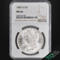 1885-O  $1  MORGAN DOLLAR  NGC MINT STATE 66 SOLID GEM BU  4382922-009