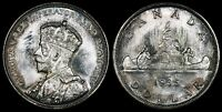 CANADA GEORGE V SILVER DOLLAR 1935. STRONG MINT LUSTER.