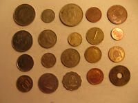 MIXED LOT OF FOREIGN COINS  23 .
