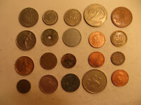 MIXED LOT OF FOREIGN COINS  24 .