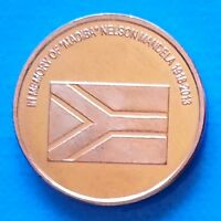 REDONDA ISLAND 10 CENTS 2013 UNC NELSON MANDELA FLAG UNUSUAL COINAGE
