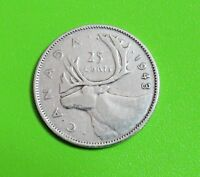 1943 25C CANADA 25 CENTS   80  SILVER