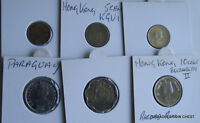 6 X MIXED WORLD COIN'S GENERAL MIX MODERN WORLD IN 2X2 HOLDERS YAO50