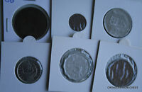 6 X MIXED WORLD COIN'S GENERAL MIX MODERN WORLD IN 2X2 HOLDERS FMK3