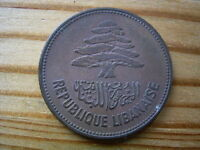 1952  LEBANON 25  PIASTRES COIN COLLECTABLE