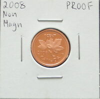 2008 CANADIAN 1 CENT NONE MAGNETIC  PROOF FINISH; BRONZE