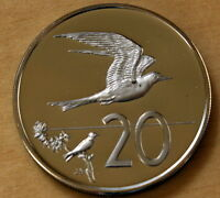 1973 COOK ISLANDS 20 CENTS PROOF FAIRY TERN