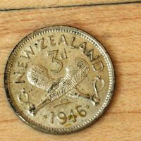 1946 NEW ZEALAND 3 PENCE SILVER