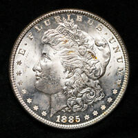 1885-P MORGAN DOLLAR - BU DOUBLE DIE AND CRACK ERRORS VAM? 90 SILVER  COIN