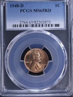 1948-D 1C RD LINCOLN CENT PCGS MINT STATE 65RD