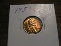 1951 D LINCOLN  WHEAT CENT    RED BU COIN