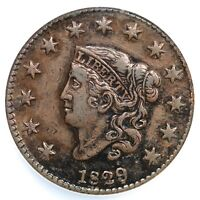1829 N-7 R-3 NCS EXTRA FINE  DETAILS LG LETTERS MATRON OR CORONET HEAD LARGE CENT COIN 1C