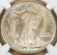 1943 D LIBERTY HALF DOLLAR MINT STATE 64 NGC  COIN 5/16-22