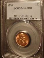 1954 PCGS MINT STATE 65 RED