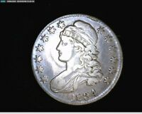 1834 CAPPED BUST SILVER HALF DOLLAR LARGE DATE & 50 CENT 1801