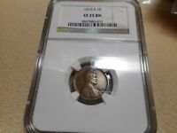 1915 S BN LINCOLN CENT, CERTIFIED NGC VF 25