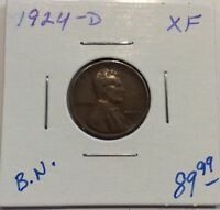 1924-D 1C BN LINCOLN CENT IN EXTRA FINE  CONDITION