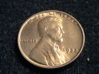 1933 P LINCOLN WHEAT CENT, RED UNCIRCULATED     ZW04 ZWA423