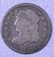 1834 H10C CAPPED BUST HALF DIME - G