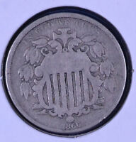 1866 5C SHIELD NICKEL - G