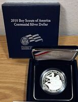 2010 BOY SCOUTS BSA SILVER PROOF DOLLAR $1  MISSING PROOF COA INCL UNCIRCULATED